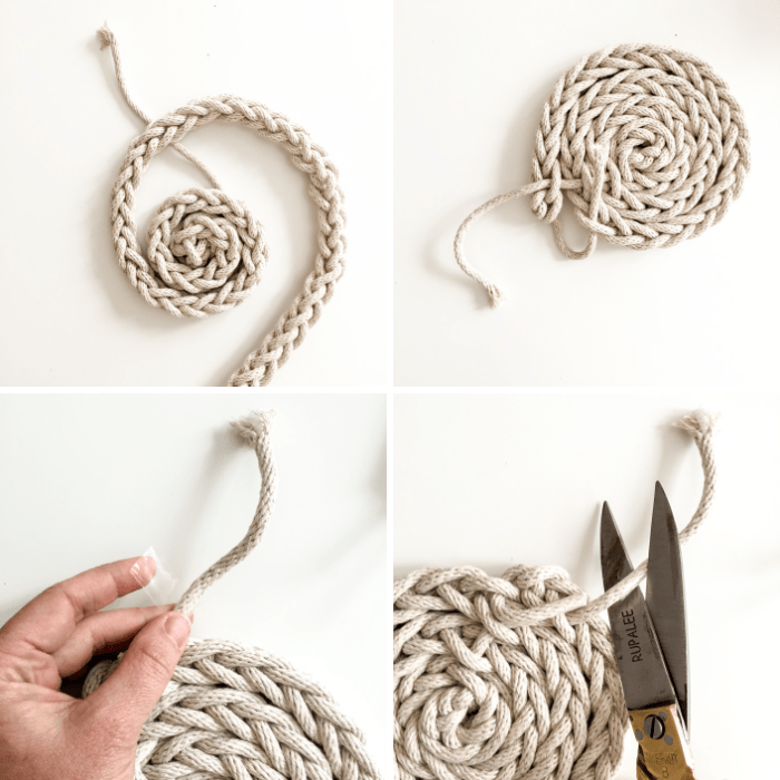 Fingerknit Trivet-how to 4