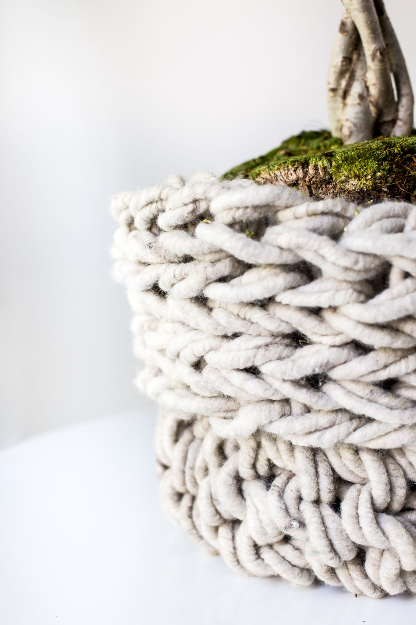 Arm Knit Basket Pattern Featured In Taproot Flax Twine