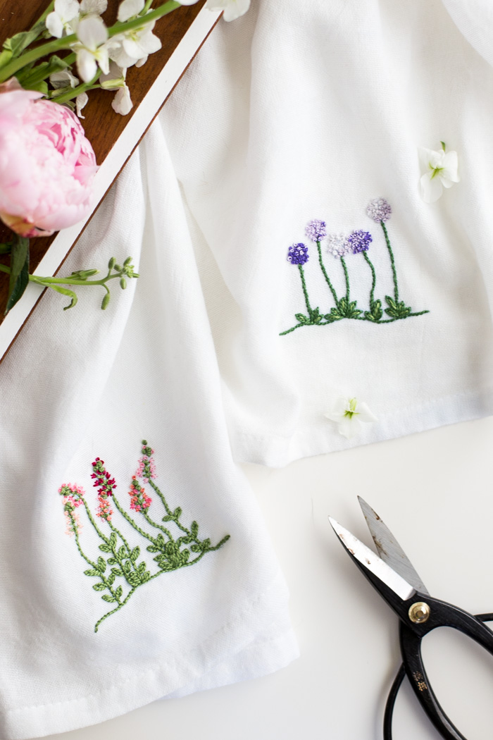 Floral Embroidery Patterns For Dishtowels Flax Twine