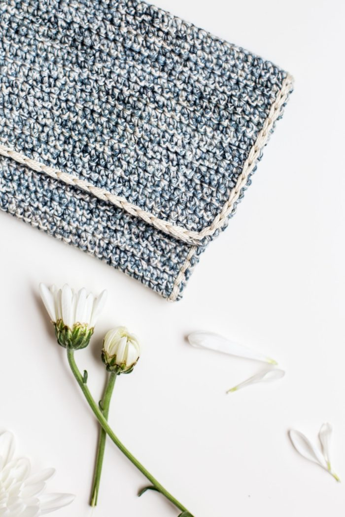 Marled Crochet Clutch Pattern by Anne Weil of Flax & Twine