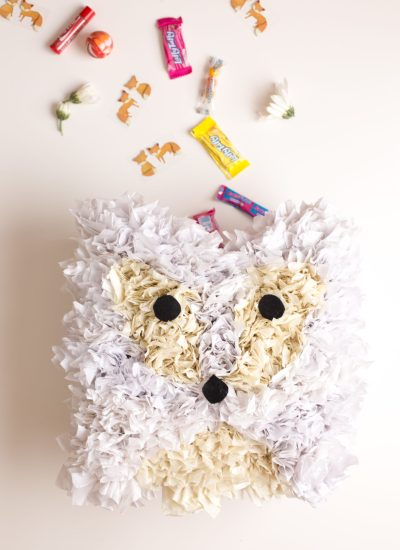 Easy to Make Arctic Fox Pinata DIY and Party