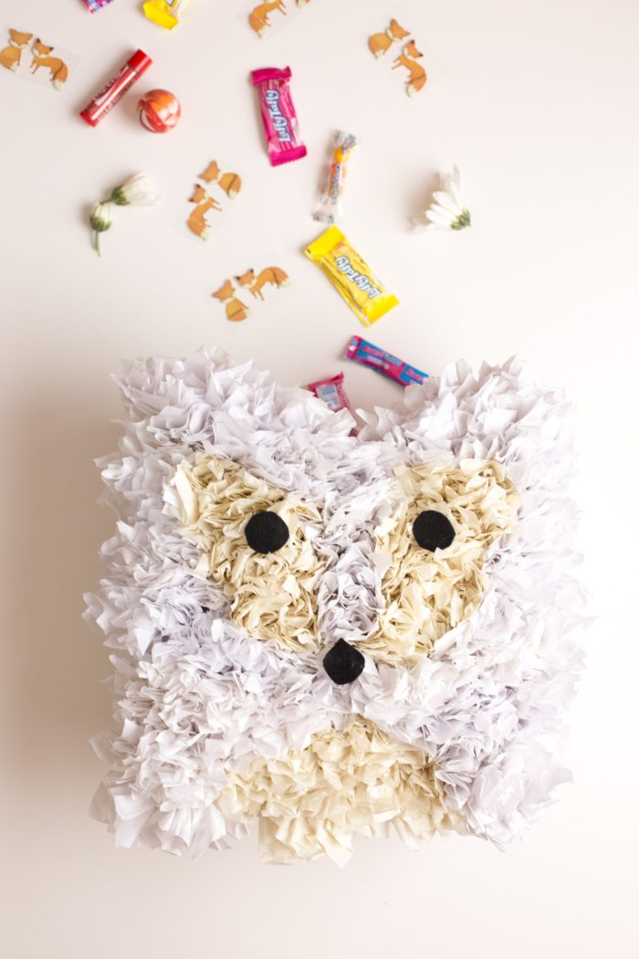 Fox Pinata DIY and Party by Anne Weil of Flax & Twine