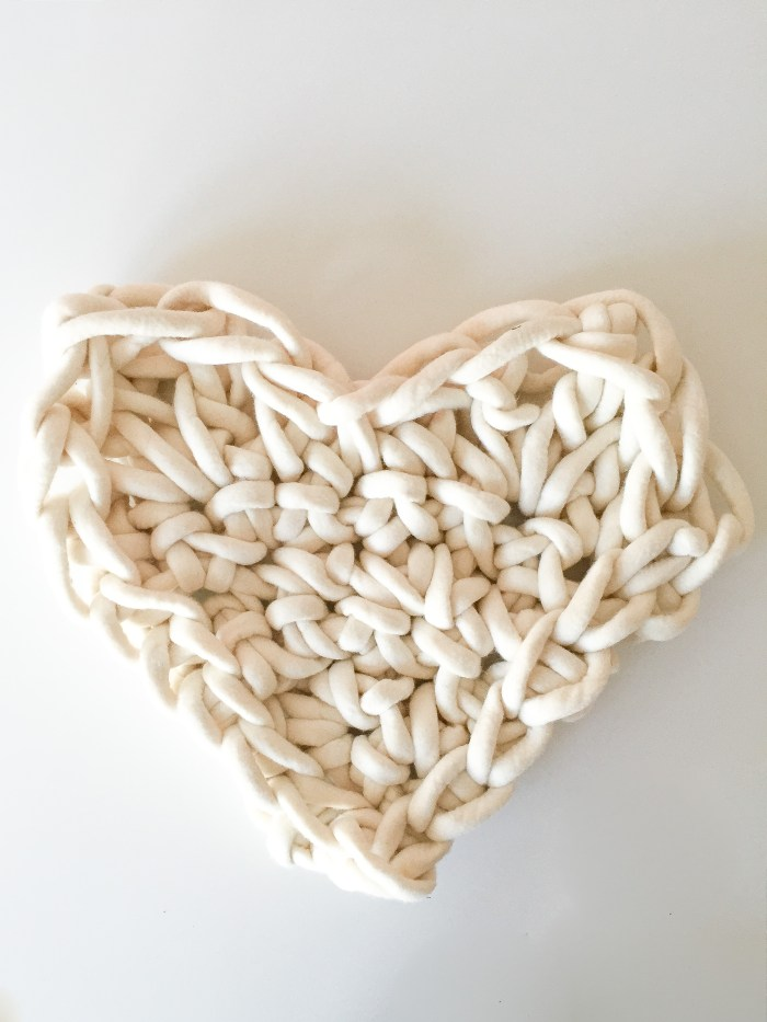 Giant Hand Crochet Heart | Anne Weil of Flax & Twine