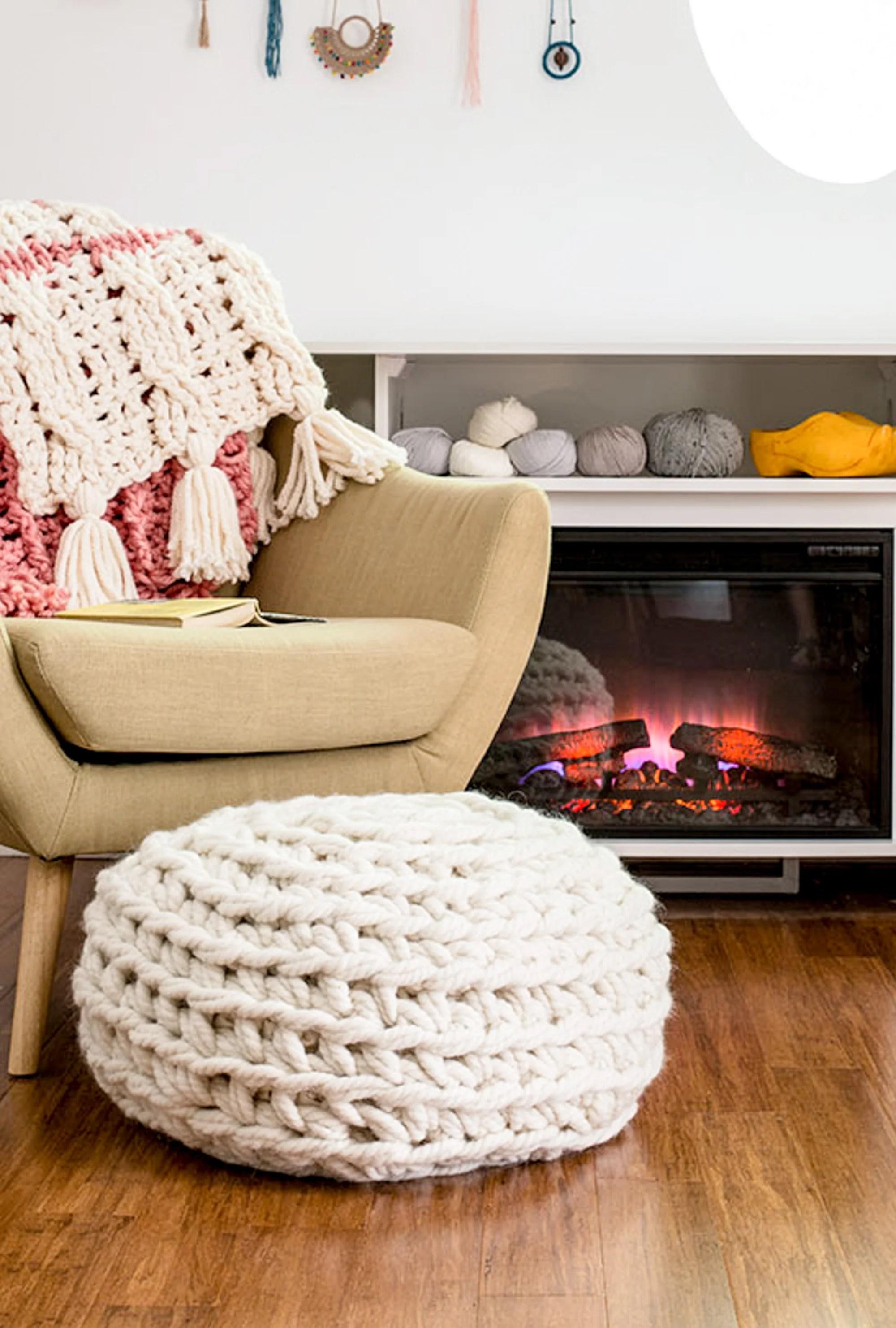 Single Crochet Pouf New 1 4
