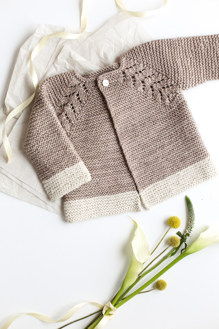 Lovely Knit Top Down Cardigan Baby Sweater Flax Amp Twine