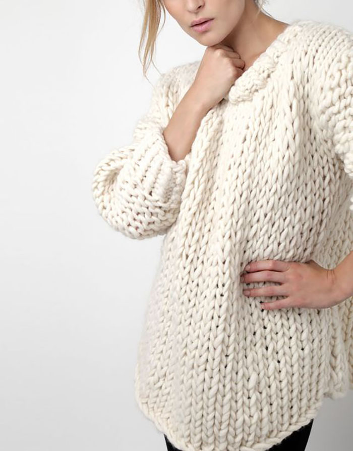 Chunky Cardigan Knitting Pattern : Sweater weather best chunky knit patterns