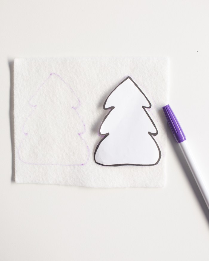 Embroidered Christmas Tree Ornament DIY