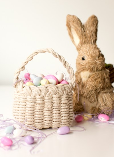 Hand Woven Basket Tutorial for Easter