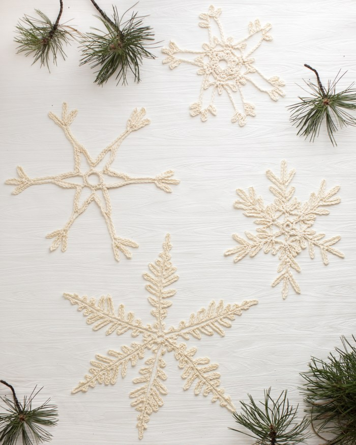 Giant Crocheted Snowflakes by Anne Weil of Flax & Twine