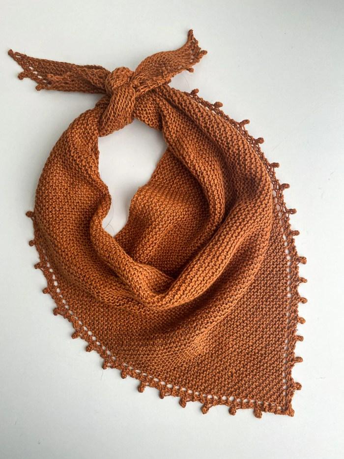 Knit bandana in linen by Flax & Twine - Bennet Bandana