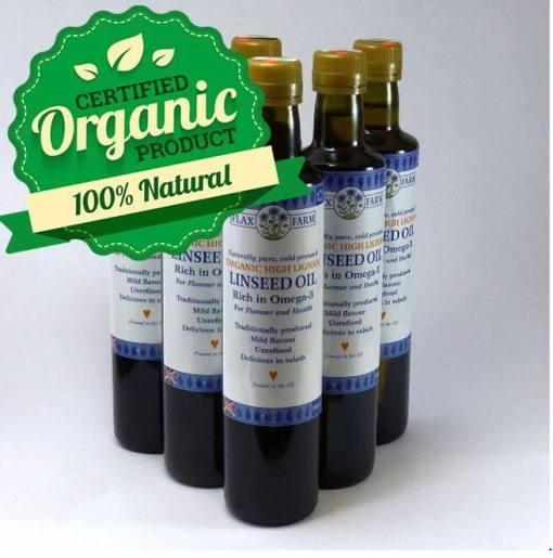 High Lignan Organic Linseed Oil