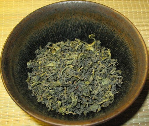Dry leaves of Nokcha Organic Traditional Green Tea