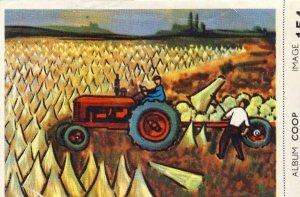 Cigarette card: harvesting flax