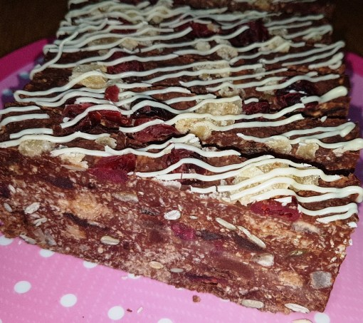 Luxury Chocolate Tiffin Flaxjack Gluten-free Flapjack