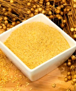 Ground golden linseed