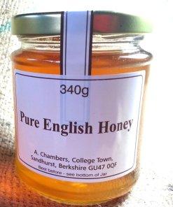 Pure Organic Raw English Honey 12oz, 340g