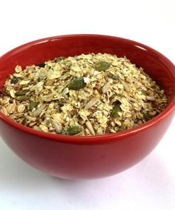 Bowl of Gluten-free Linseed Muesli base