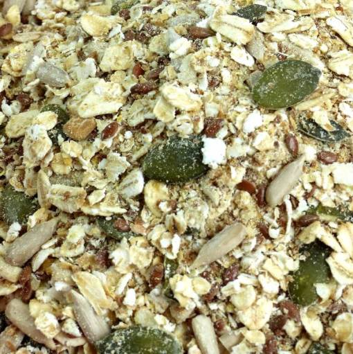 Gluten-free Muesli base close up