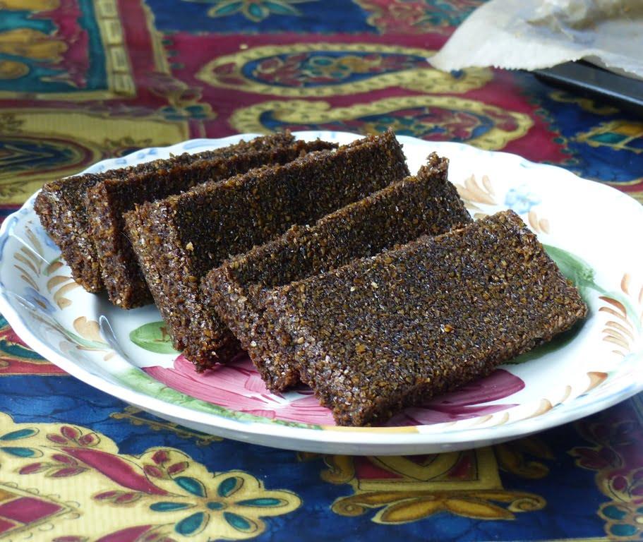 Low sugar molasses flaxjacks recipe