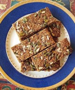Gluten-free Fruitcake Flapjack Linseed Flaxjacks