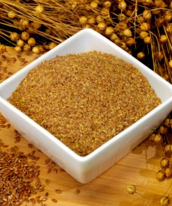 Ground bronze linseed (flax) high in fibre