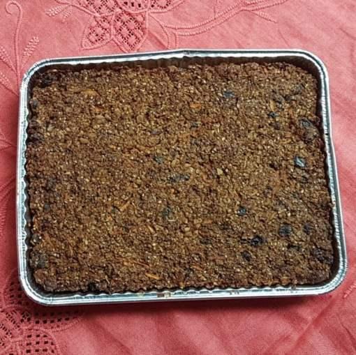 Ginger Parkin gluten-free sugar-free flapjack linseed flaxjack homebake