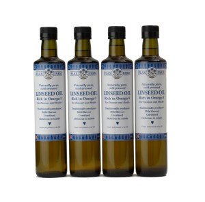 Cold-pressed organic uk grown linseed flaxseed oil