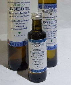 Organic Cold-pressed flaxseed linseed oil