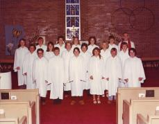 1981 1) R. Krogh, A. Schnoor, B. Simons, M. Brown, B. Kjose, L. Bottger 2) M. Kollbaum, J. Blessing, D. Grove, T. Dillard, J. Oberg, J. Johansen 3) T. Bottger, T. DeRoos, M. Krumwiede, K. Ewoldt, S. Blessing, K. Weyhrich, Pastor Karl Konig