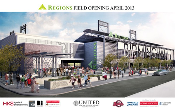 Regions Field Currently Under Construction
