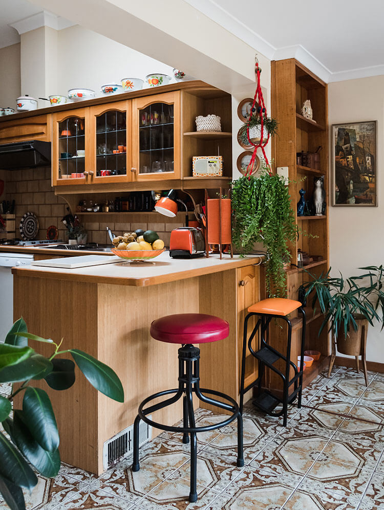 The kitchen area that showcases funky tiles and open spaces that steal the show.