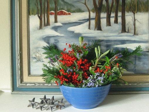 Decorating With Winter Berries Flea Market Gardening