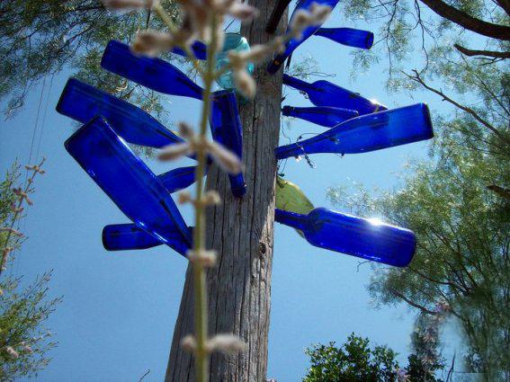 Donna Dunn's blue bottles