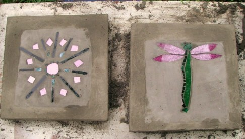 Two of Becky's designed tiles