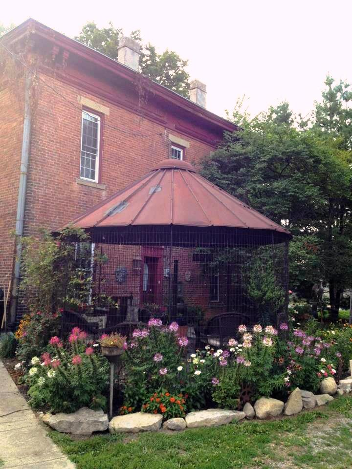 Myra's gazebo from a corn crib | Flea Market Gardening