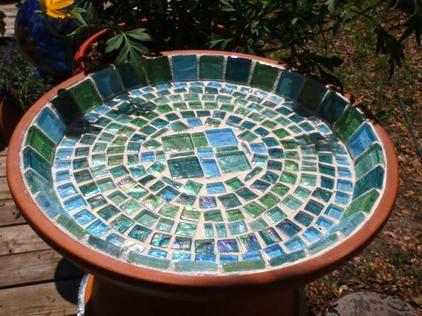 Tiled Birdbath