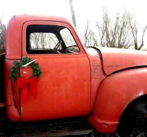 Farm truck at Christmas