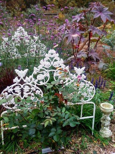 Audrey Osborn's charming vintage flower bed
