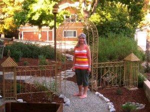 Barbara in her garden