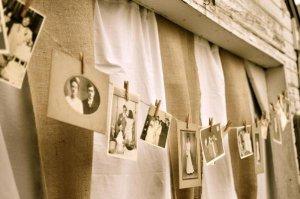 Just Enough Antiques- Clothesline photo memories