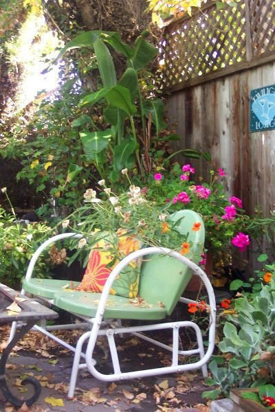 Donna Rinnels's flowery chair