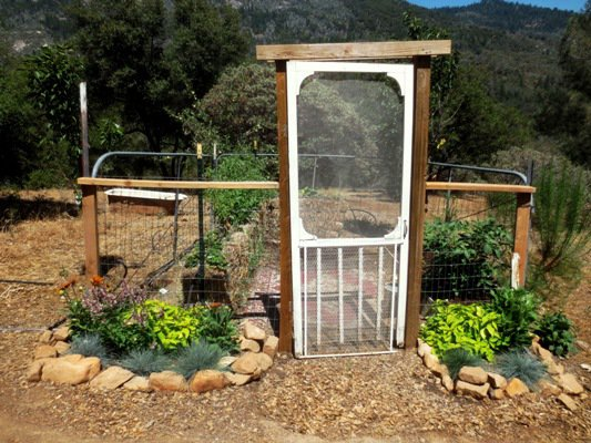 Ranch gate garden in July