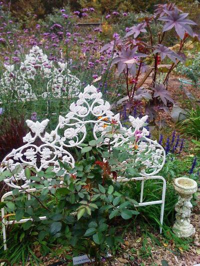 Audrey Osborn's ornate garden bed