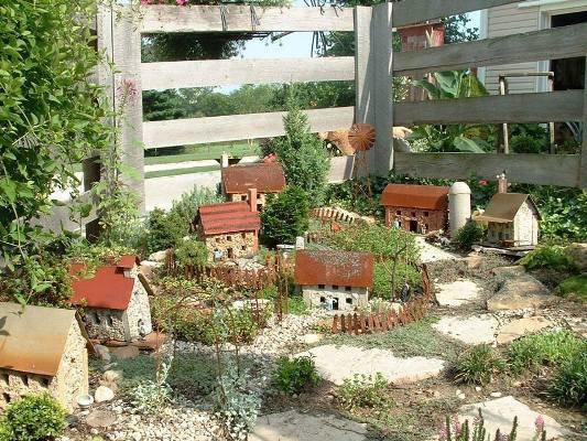 Diana's miniature garden in her mounded garden