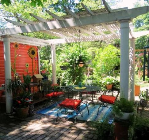 You, too, can create a shady paradise in your garden. Just borrow a cup of ideas!