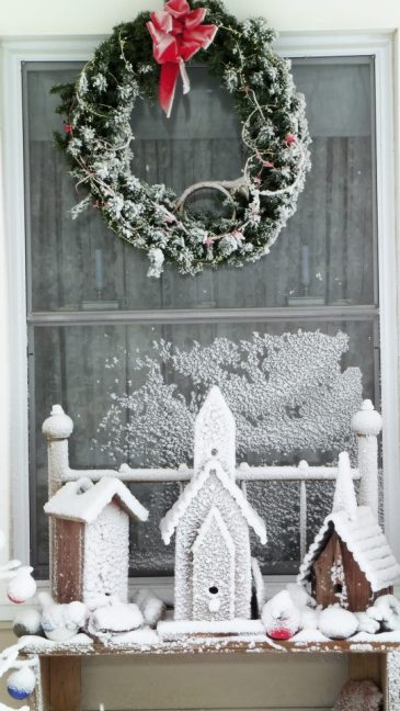 Terresa Stoll's frosty outdoor display