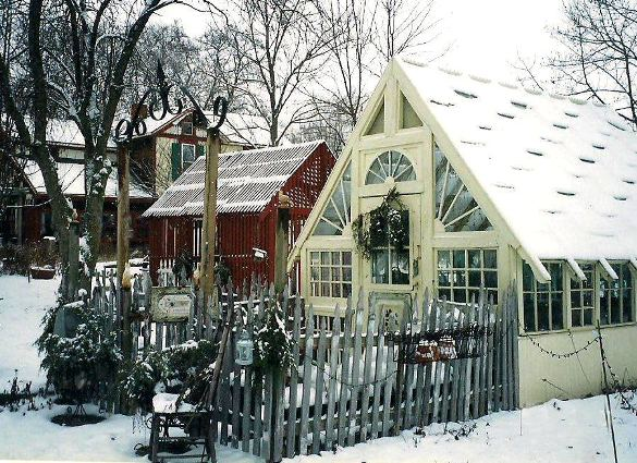 The Little Shop Antiques snowy wonderland