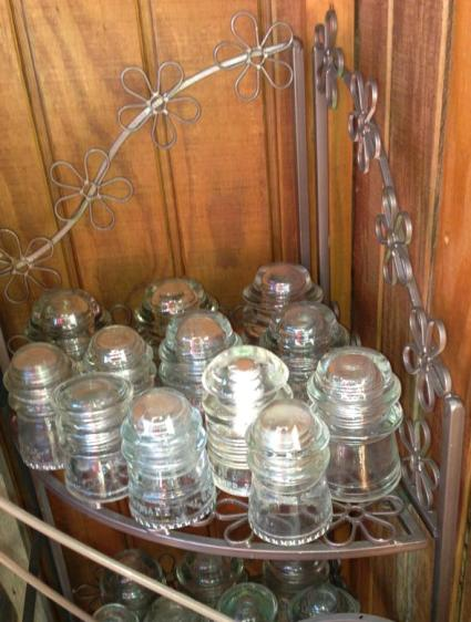 Sparkling clear insulators from Rhea Dawn's collection