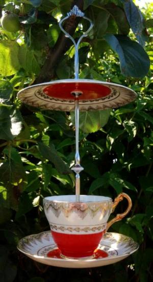 Shelley's teacup bird feeder