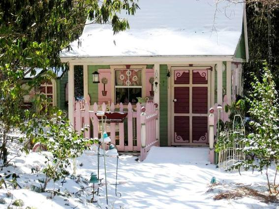 Barbara Stanley's snowy retreat